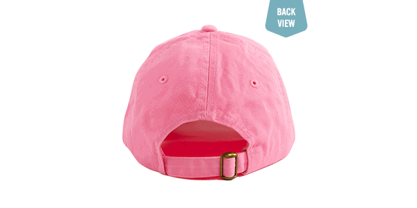 Amy's Blend Pink Baseball hat back view