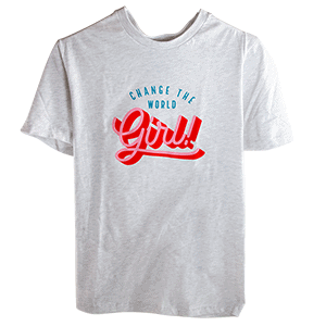 Amy's Blend Change the World girl teeshirt