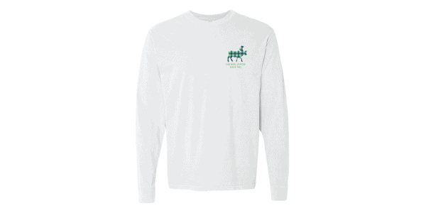 Lat/Long Tee white front view