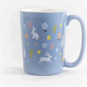 Bunny ceramic mug front view