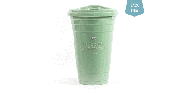 strawless spring tumbler green back view