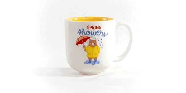 """Spring Showers bring flowers"" ceramic mug"