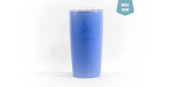 Caribou Classic Stainless Steel Tumbler 20oz Blue Back view