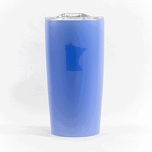 Caribou Classic Stainless Steel tumbler 20oz Blue front view