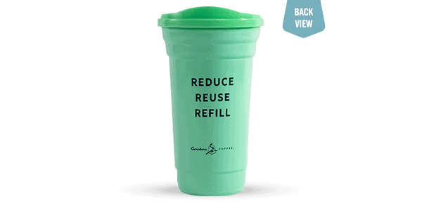 Earth Month Tumbler, Green, Back