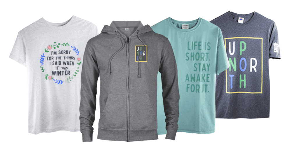 Caribou Coffee Up North Apparel line
