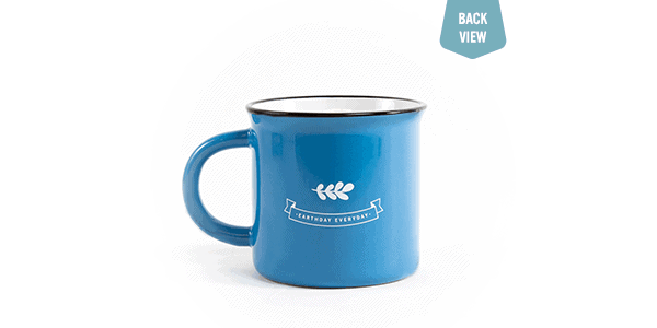 Love our earth, mug, back