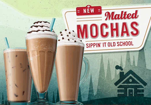 New Malted Mochas at Caribou