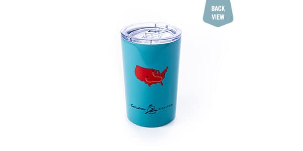 road trip teal tumbler back