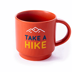 take a hike ceramic