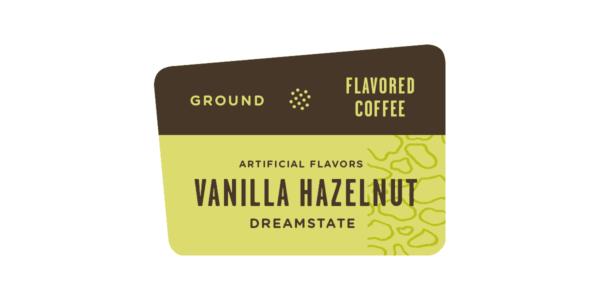 vanilla hazelnut flavored label