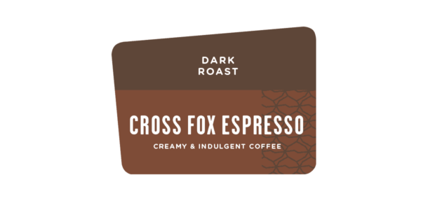 Label of Cross Fox Espresso Dark Roast
