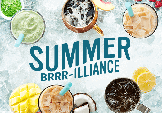 Summer brrrr-illiance - line up of Caribou's 5 new summer drinks