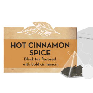 Hot cinnamon spice tea tin