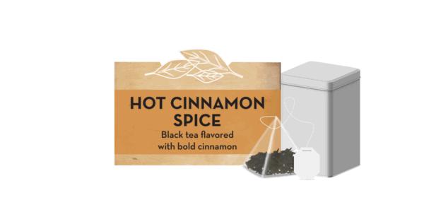 Hot cinnamon spice tea tin