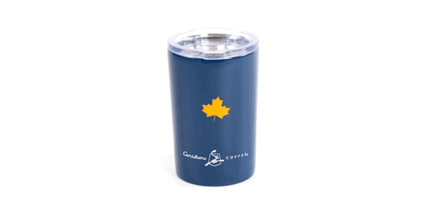 It's nice here tumbler - Navy BACK