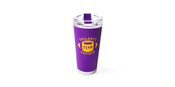 tailgate tumbler purple