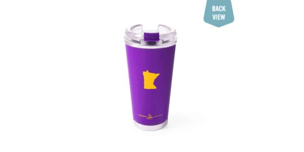 tailgate tumbler purple back