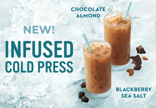 New Infused Cold Press - Chocolate Almond & Blackberry Sea Salt