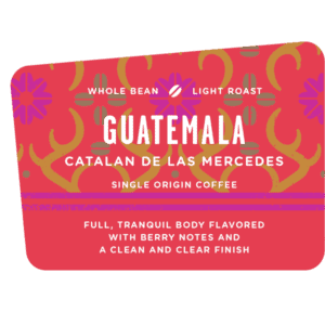 Guatemala Catalan de las Mercedes, coffee, light roast, specialty Discovery bean