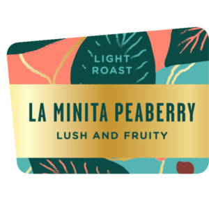 La Minita Peaberry coffee, light roast, specialty single origin bean