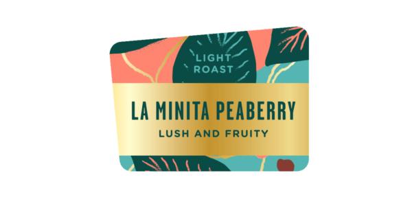 La Minita Peaberry coffee, light roast, specialty single origin bean