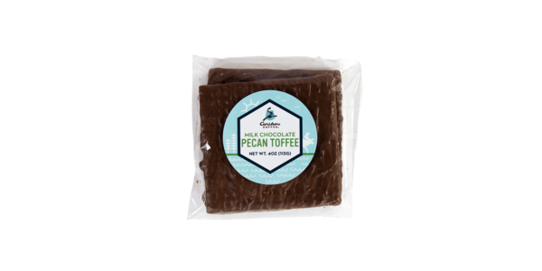 Bag of milk chocolate pecan toffee