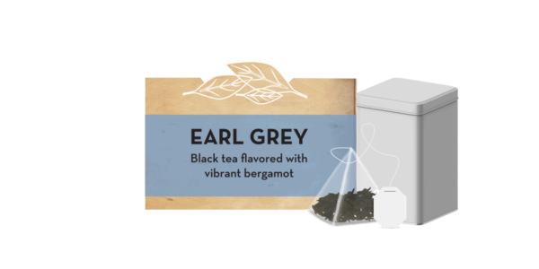 Earl Grey tea tin