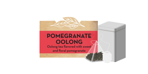 Pomegranate Oolong tea tin
