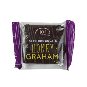 Single package of dark chocolate covered honey graham