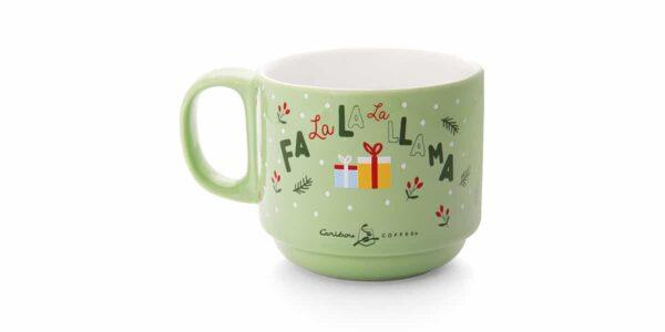 llama ceramic mug back