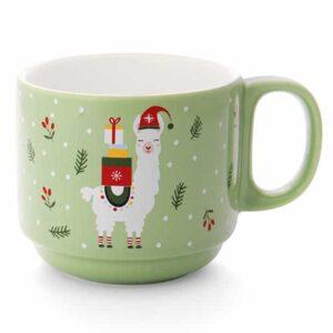 llama ceramic mug