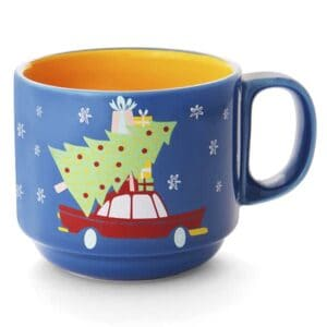 dashing thru the snow ceramic mug