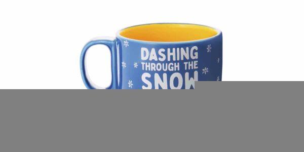 dashing thru the snow ceramic mug back