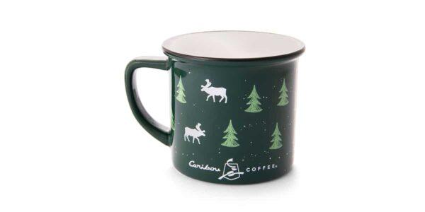 green mug with flask back