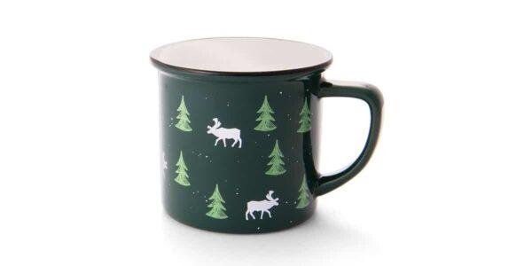 green mug with flask