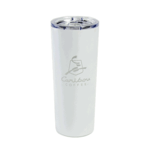 caribou white evergreen tumbler