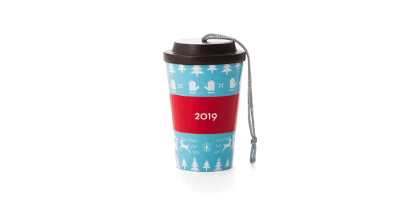 holiday cup ornament