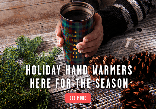 Holiday Hand Warmers (i.e. coffee cups with coffee) Here For The Season - See More