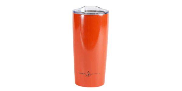 Orange tall stainless steel tumbler