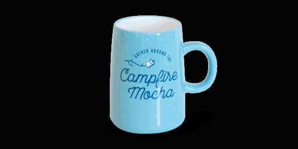 campfire mocha ceramic mug, blue