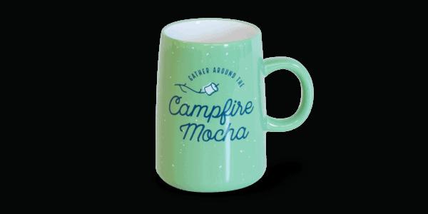campfire mocha ceramic mug, mint
