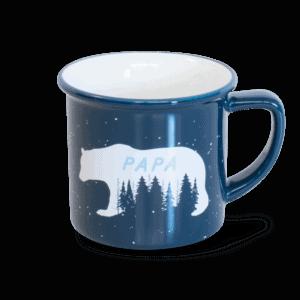 papa bear mug - navy