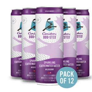 Caribou's wild berry ready-to-drink cans