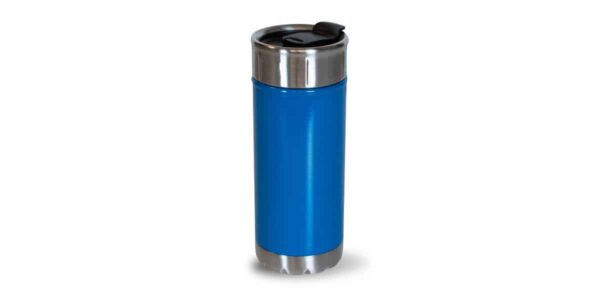 Tall Dark Blue Colorful Stainless - back