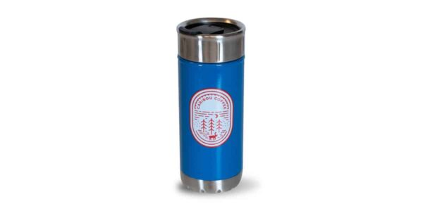 Tall Dark Blue Colorful Stainless with outdoors icon - front