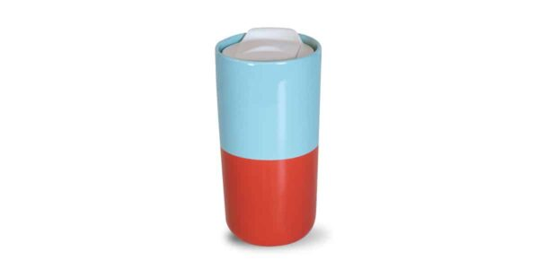 red and blue half and half tumbler back