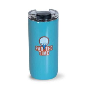 Par-tee time stainless blue tumbler