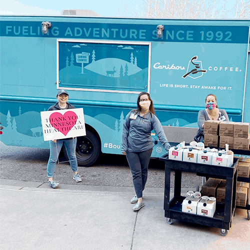Bou Truck delivering donations