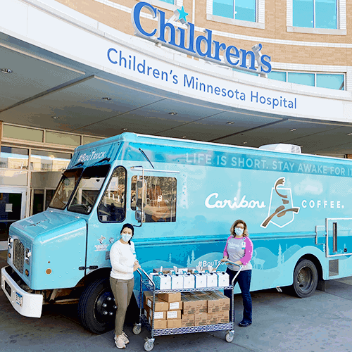 Bou Truck delivering donations to Childrens Memorial Hosptial